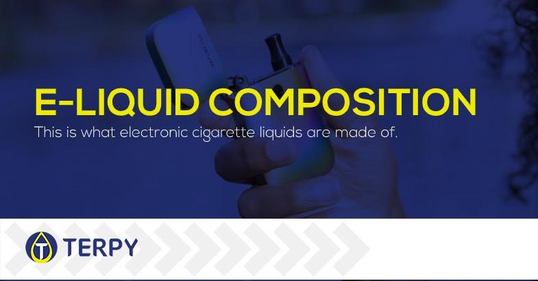 E cigarette liquid composition