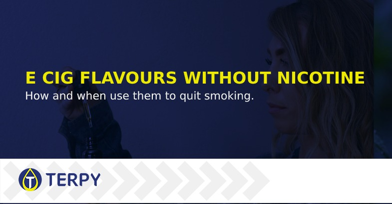 Aromas for electronic cigarettes without nicotine
