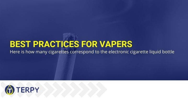 Best practices for vapers: here is how many cigarettes correspond to the electronic cigarette liquid bottle