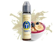 Bottle of smoothie bowl e-liquid for vapers
