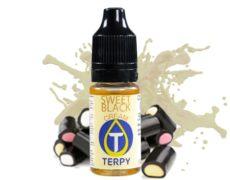 bottle of sweet back e-cigarette flavour