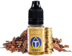 Vaping bottle for ecigarette with Gold tobacco flavour