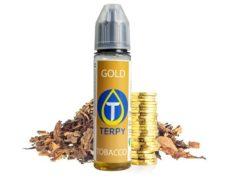 Vaping liquid bottle for ecigarette with Gold tobacco e-liquid