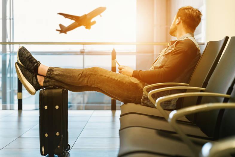 Liquid transport by plane