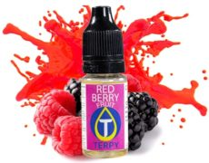 Bottle with fruity flavour for electronic cigarette with red fruit taste