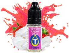 Fruity flavour bottle for e-cigarette with Strawberry cream