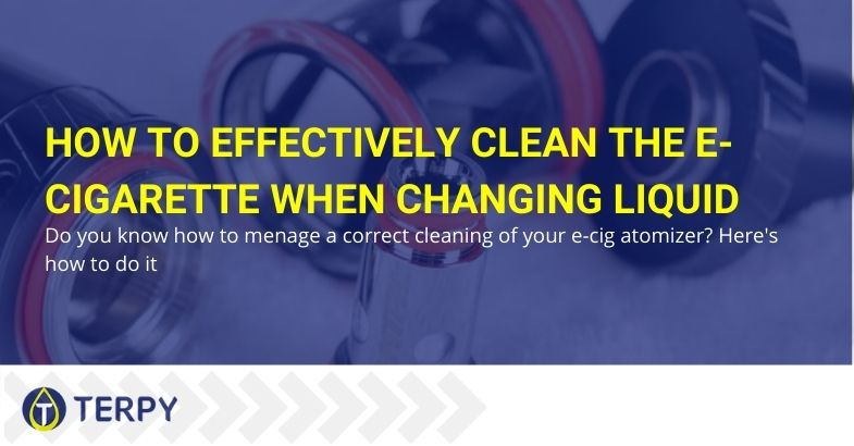 How to effectively clean the electronic cigarette when changing the liquid